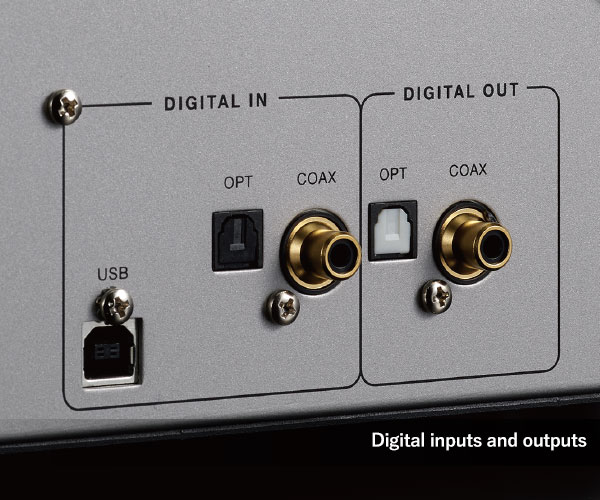 Full complement of inputs and outputs